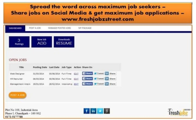 Upload & share job openings