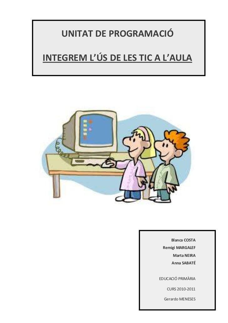 <ul><li>UNITAT DE PROGRAMACIÓ