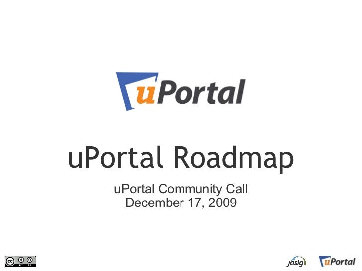 uPortal Roadmap    uPortal Community Call     December 17, 2009