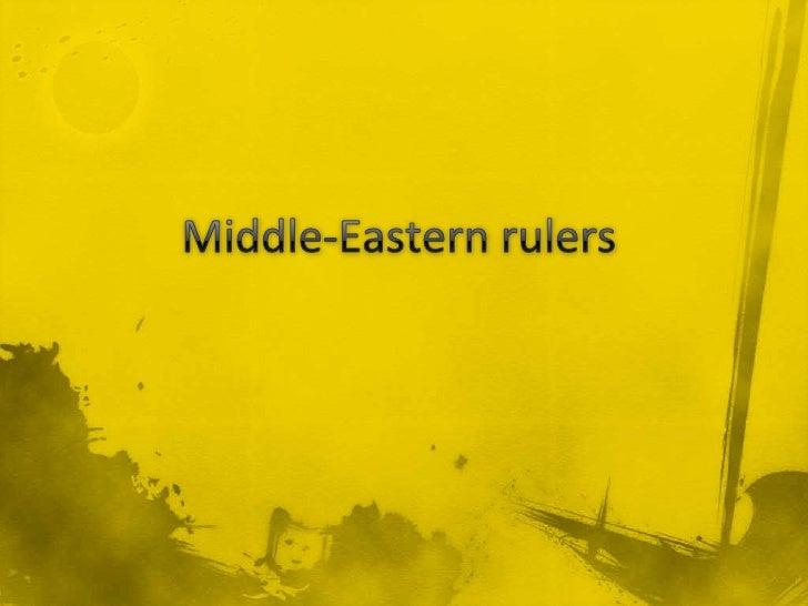 Middle-Eastern rulers<br />
