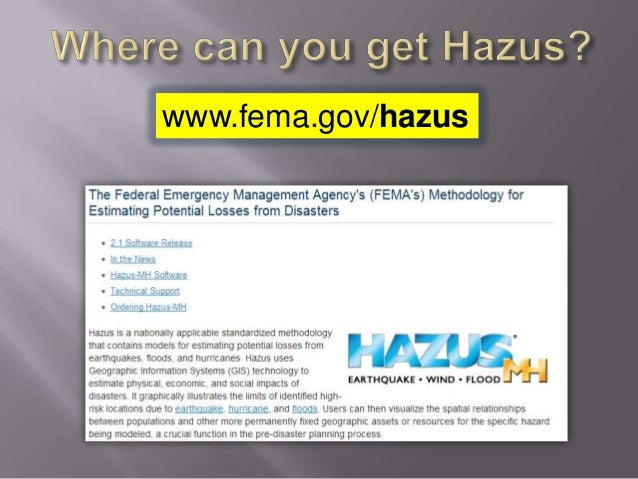 Where can you get Hazus?