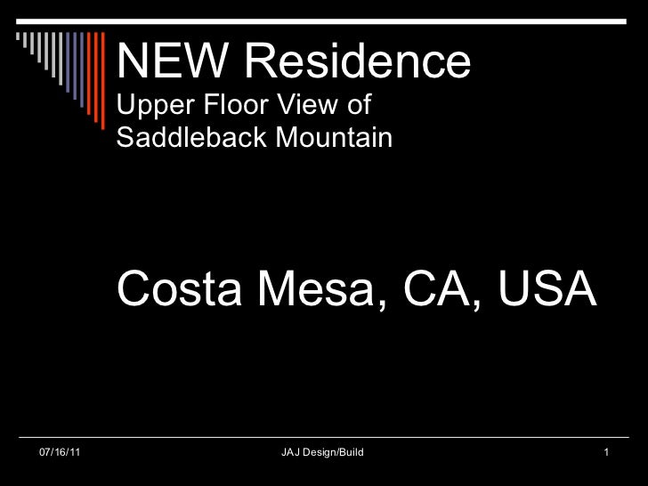 NEW Residence Upper Floor View of  Saddleback Mountain Costa Mesa, CA, USA