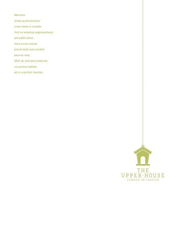Welcome.  Come up and discover  a new home in Leaside.  Visit an amazing neighbourhood,  and settle down.  Have a look aro...