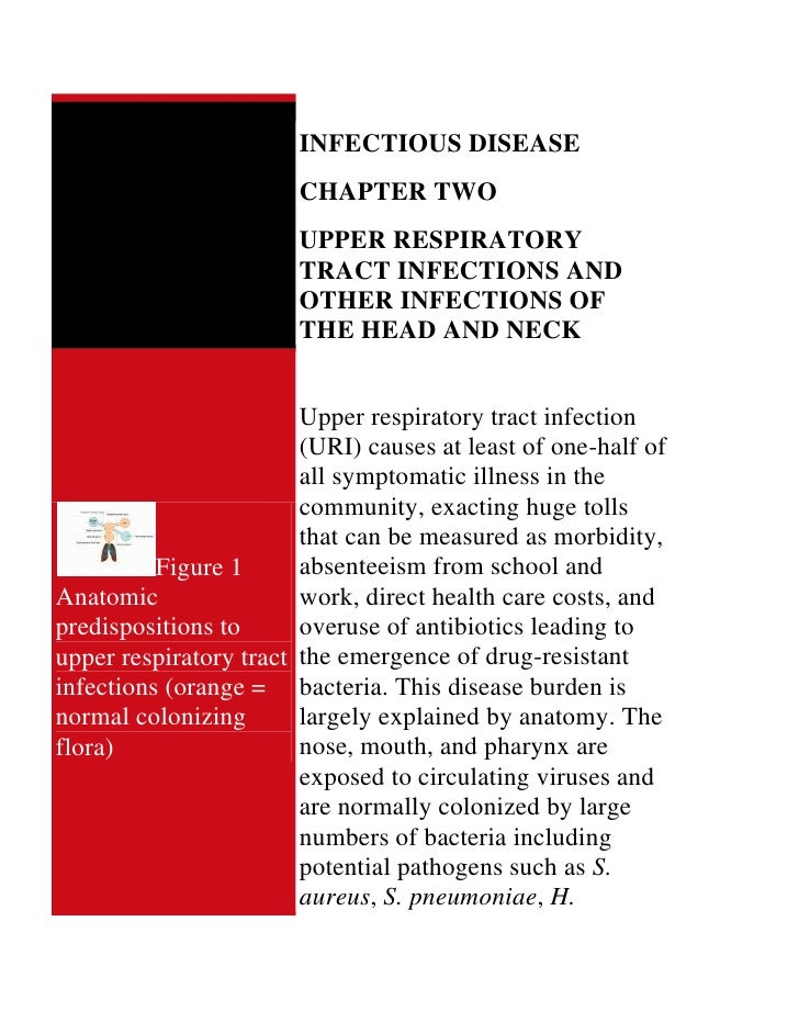 INFECTIOUS DISEASE                        CHAPTER TWO                        UPPER RESPIRATORY                        TRAC...