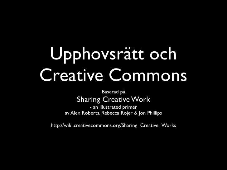 Upphovsrätt och creative commons