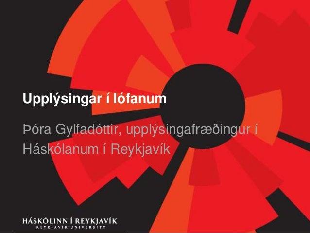 Með upplýsingar í lófanum