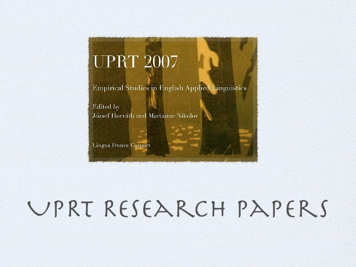 Research papers in UPRT