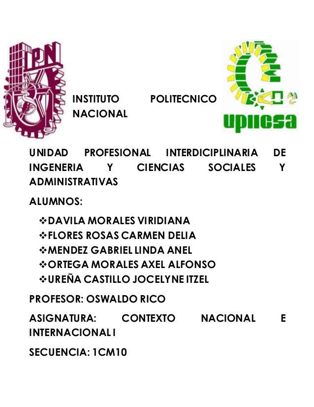 INSTITUTO POLITECNICO NACIONAL UNIDAD PROFESIONAL INTERDICIPLINARIA DE INGENERIA Y CIENCIAS SOCIALES Y ADMINISTRATIVAS ALU...