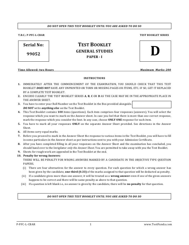 GS-Paper - II                        DO NOT OPEN THIS TEST BOOKLET UNTIL YOU ARE ASKED TO DO SO T.B.C.: P-PFC-L-CBAR      ...