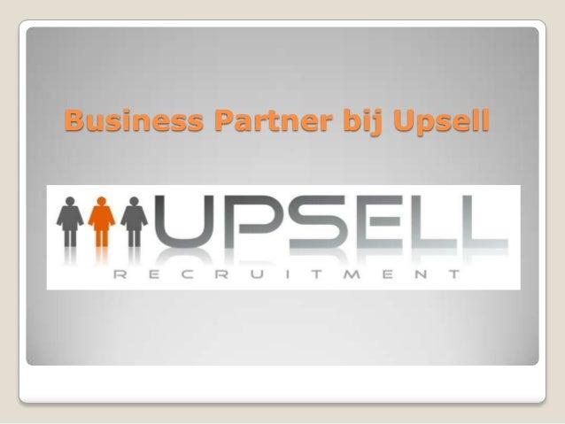 Business Partner bij Upsell