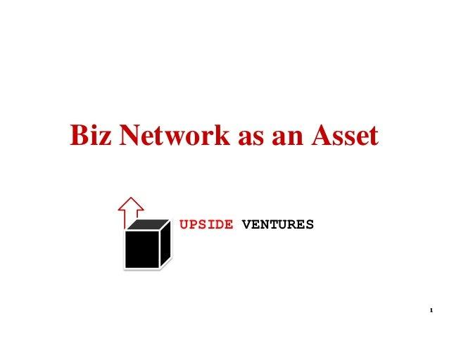 Biz Network as an Asset UPSIDE VENTURES  1