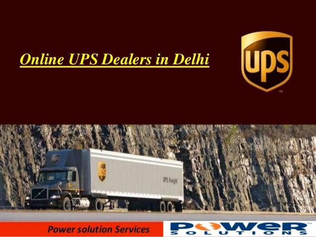 Online UPS Dealers in Delhi  Power solution Services