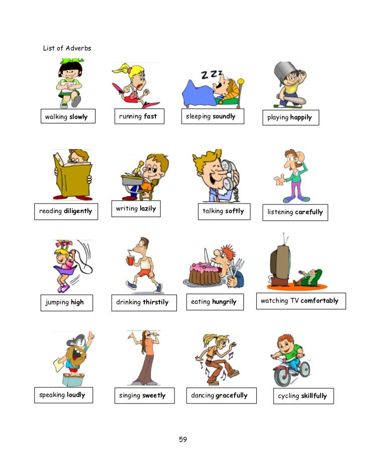 List of Adverbs For Kids List of Adverbs Walking Slowly
