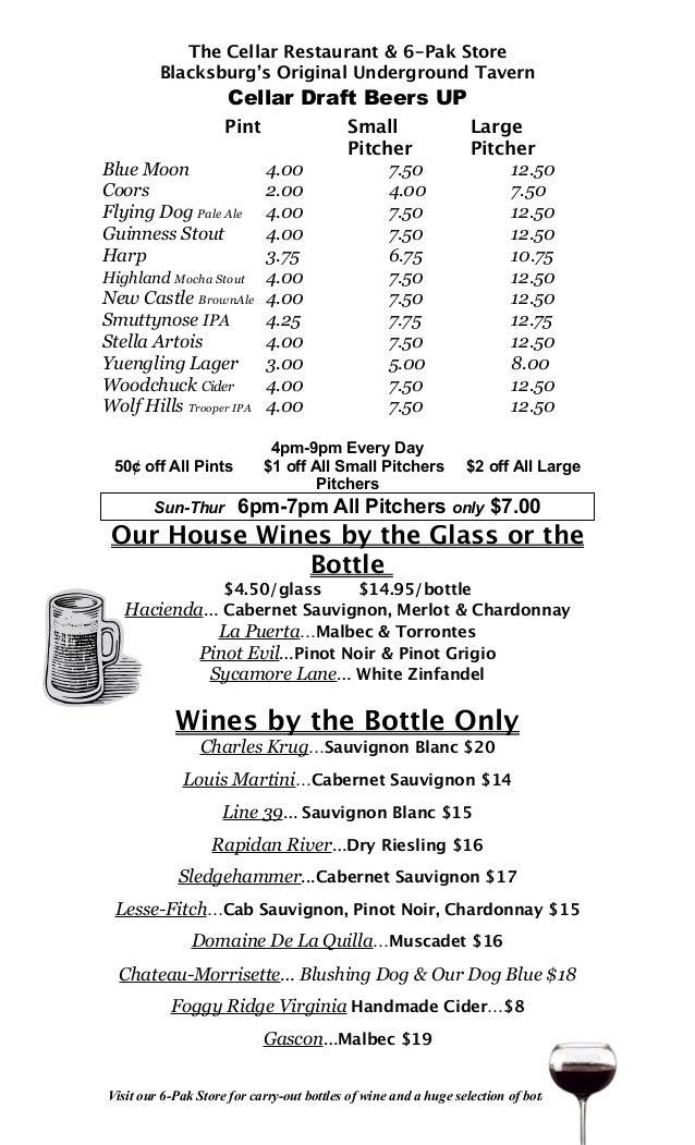 Upstairs Beer List