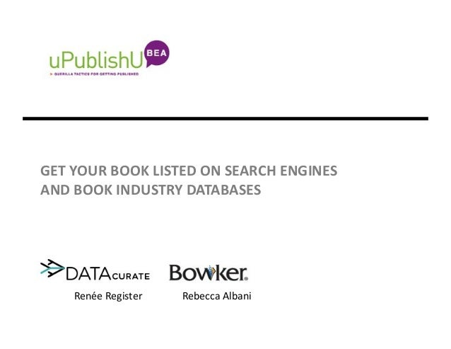 Get Your Book Listed on Search Engines and Book Industry Databases