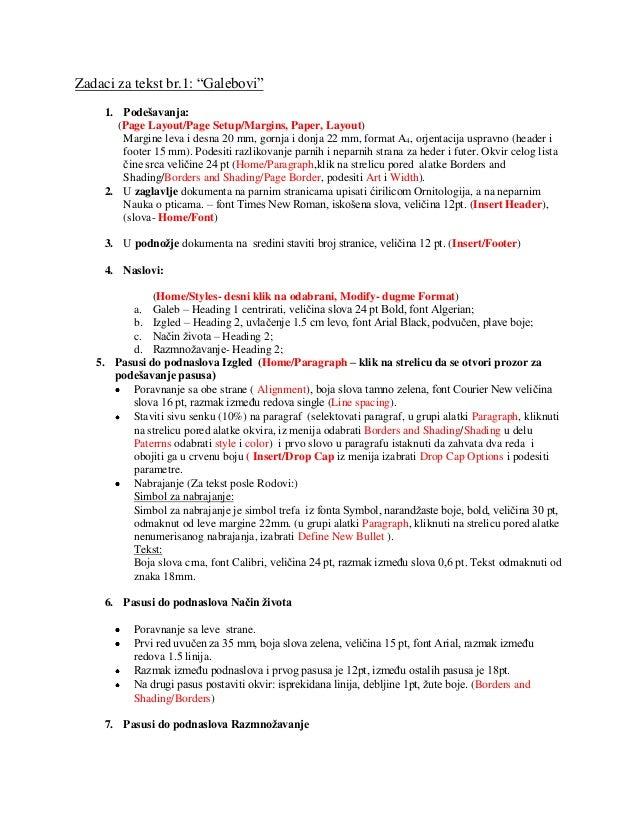 Uputstvo za rad na tekstu1