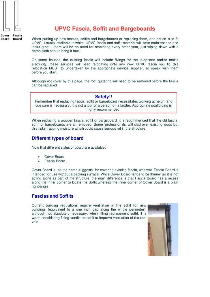 Upvc fascia