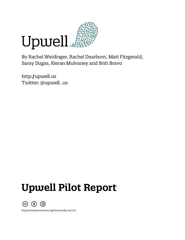 Upwell Pilot Report 2013