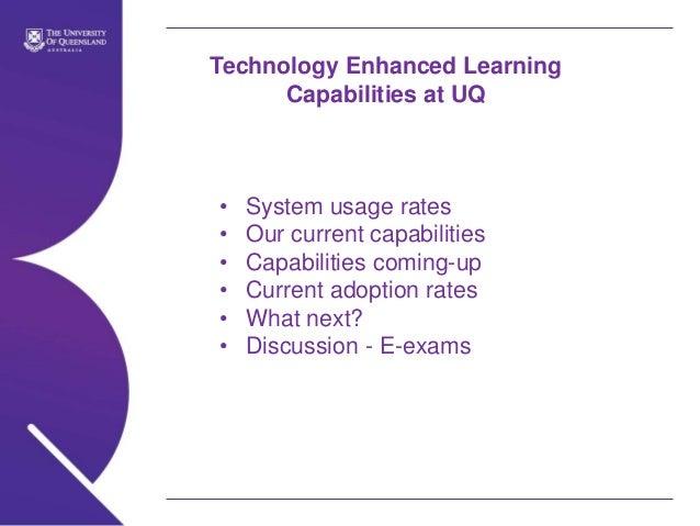Uq elearning capabilitiesoct2013-4hos