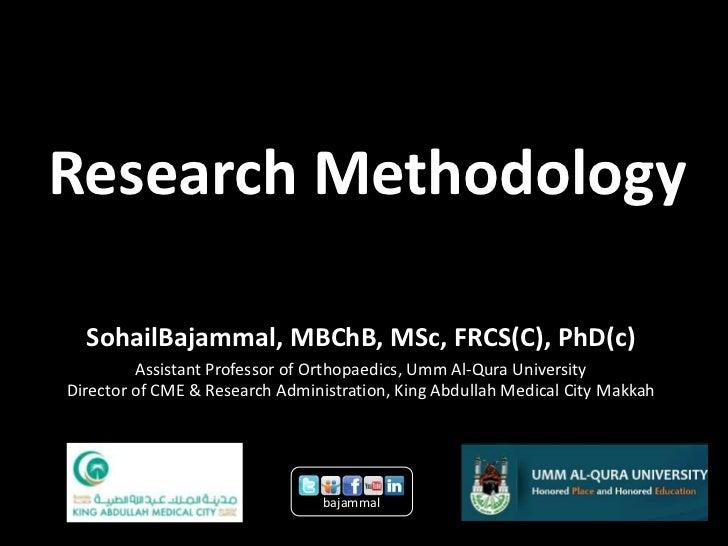 UQUMRC KAMC Research Methodology 2012 Update