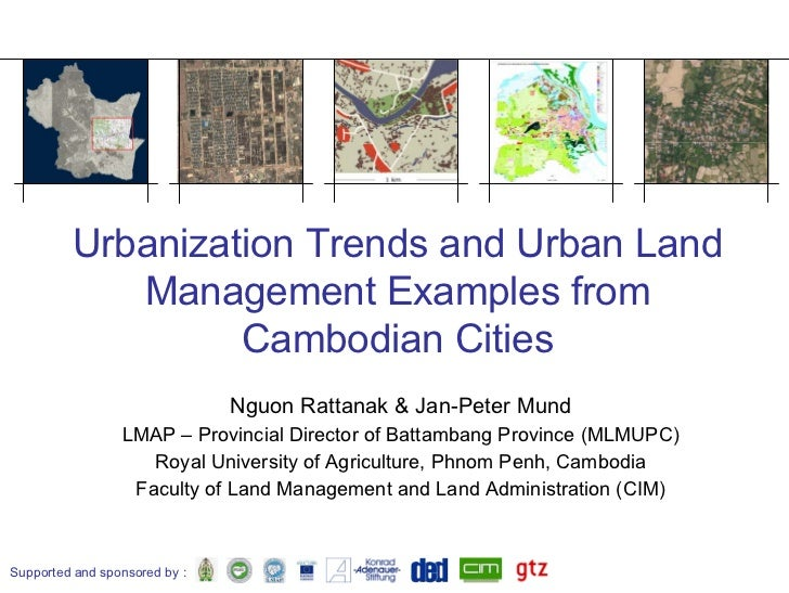 Urban Land Managment Examples From Cambodia
