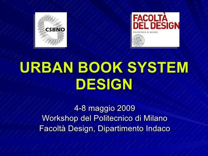 Urban Book System Design