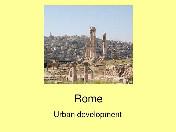 Rome Urban development