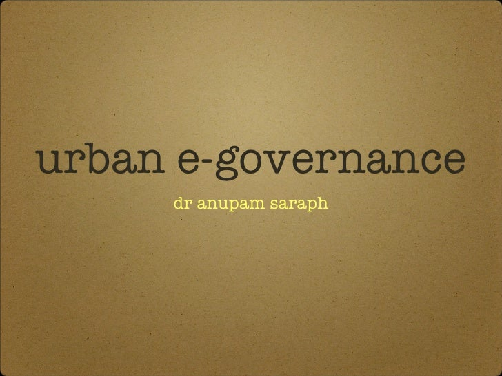 Urban e governance