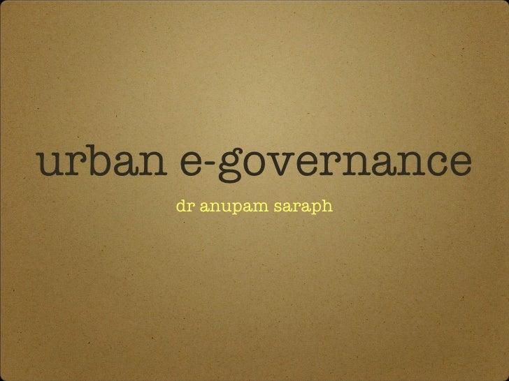 Urban e governance