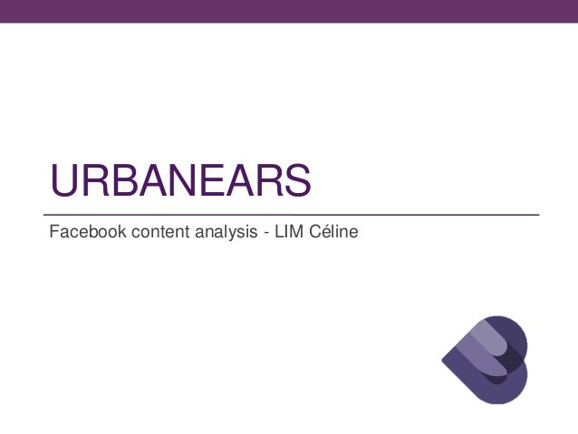 URBANEARS Facebook content analysis - LIM Céline