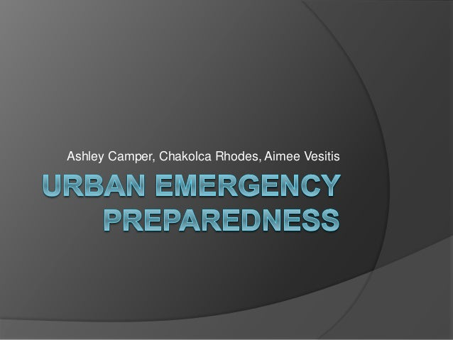 Urban emergency preparedness