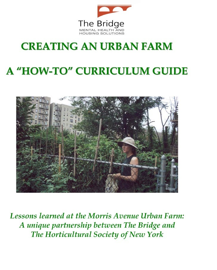 Urban Farm Curriculum Guide