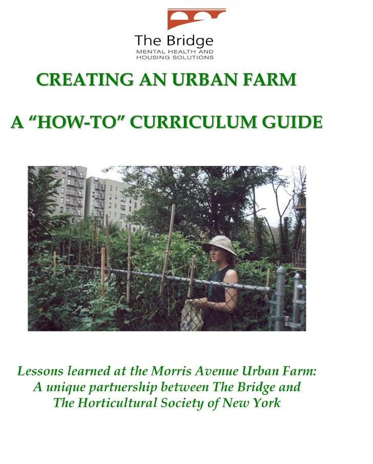 Urban Farm Curriculum Guide