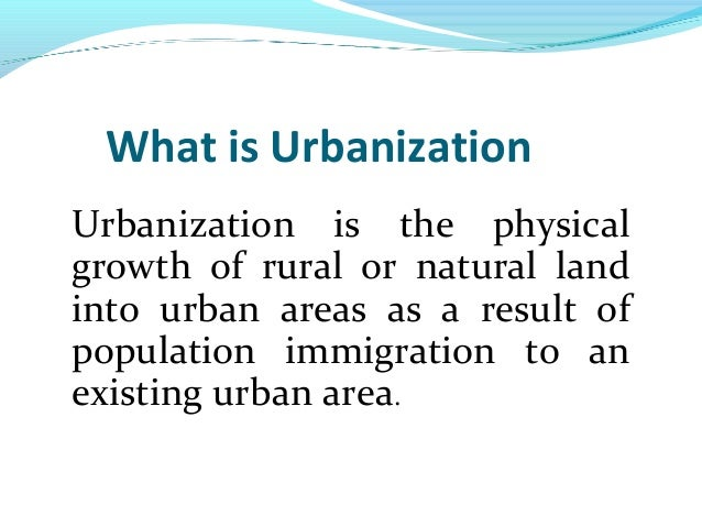 effects of urbanization in education Urbanization and urban-rural integrated development  the positive effects of urbanization may be  proximity to a port, and basic education and health.