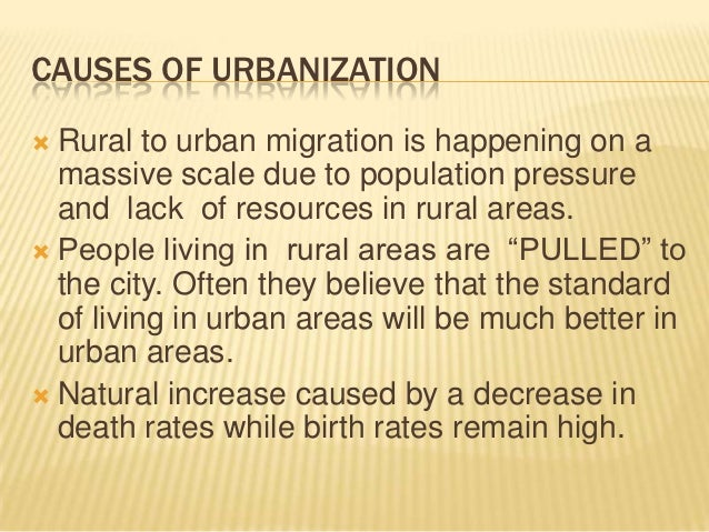 effects of urbanization essay Urbanization is often seen as a negative trend, with bad effects on quality of life and the environment but apartments require much less heat than houses,.