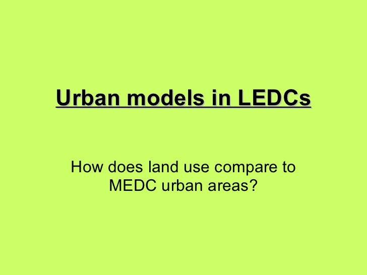 Urban models in led cs
