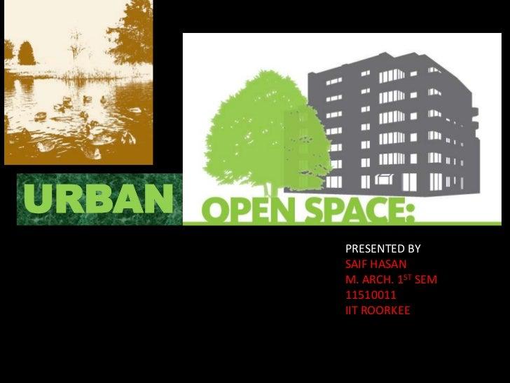 Urban open space