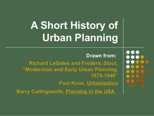 Urban Planning History