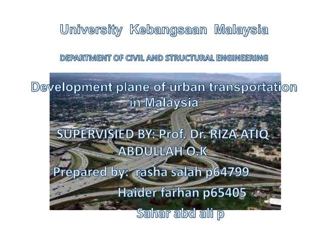 This project study some cities in Malaysiain terms of public transport system and itsproperties, the disadvantages and the...