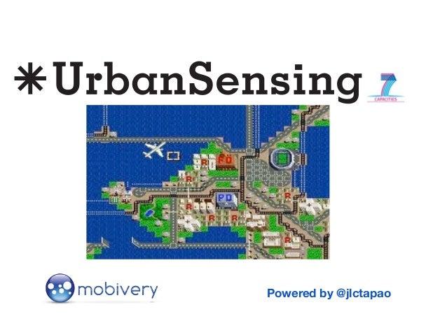 UrbanSensing  - Escuchando la ciudad digital