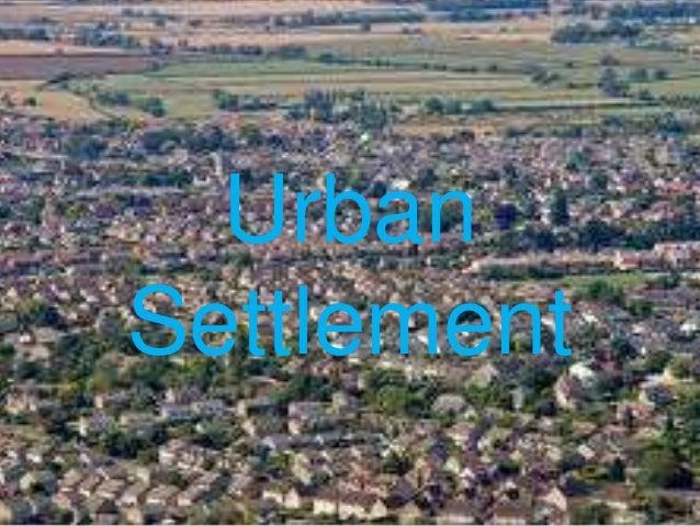 UrbanSettlement
