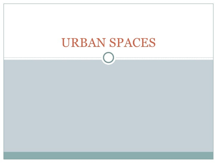 Urban spaces in Spain