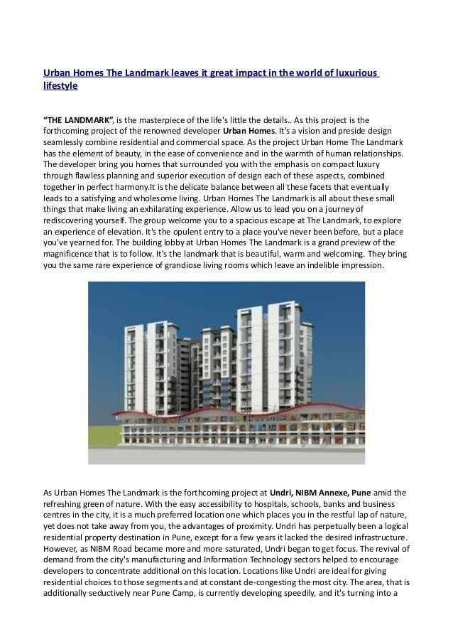"""Urban Homes The Landmark leaves it great impact in the world of luxuriouslifestyle""""THE LANDMARK"""", is the masterpiece of th..."""