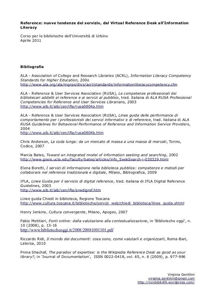 Urbino reference 2011_bibliografia