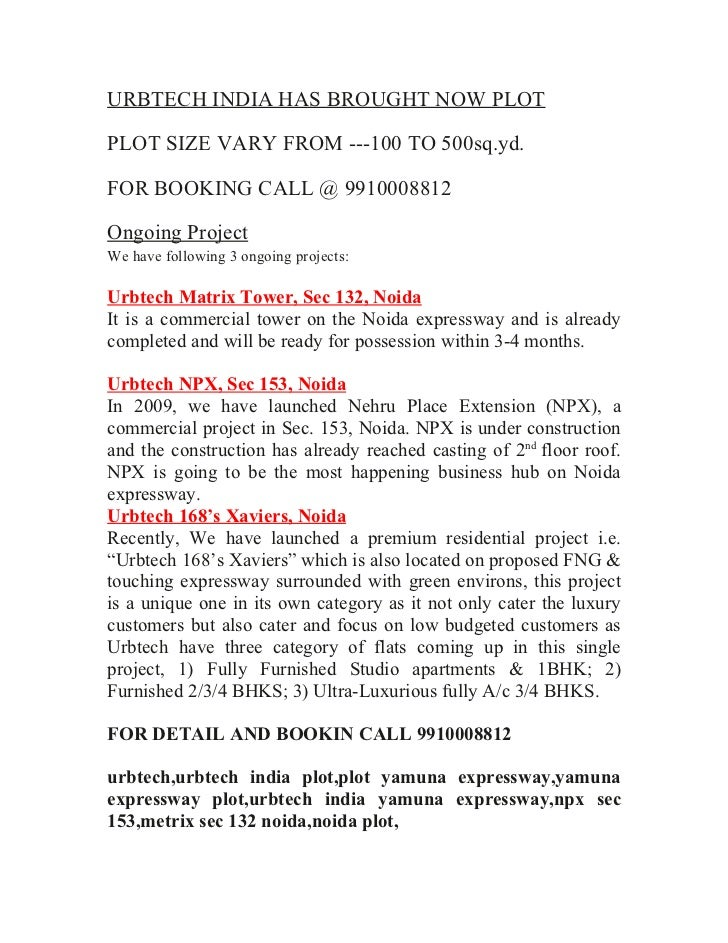 URBTECH INDIA HAS BROUGHT NOW PLOTPLOT SIZE VARY FROM ---100 TO 500sq.yd.FOR BOOKING CALL @ 9910008812Ongoing ProjectWe ha...