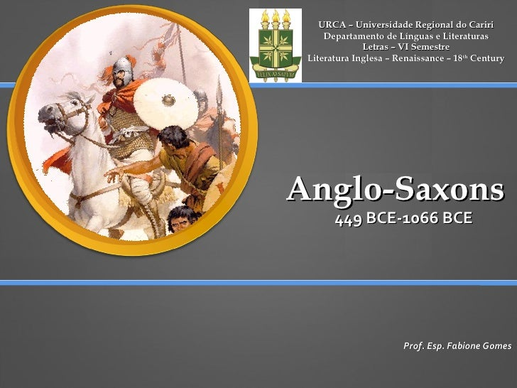 Urca   Anglo Saxon Period Aula 02 Dezembro 2009