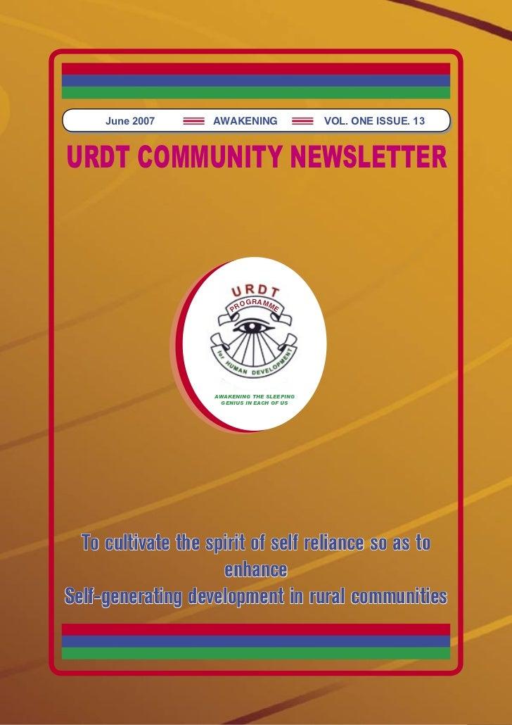 URDT newsletter (13.6.2007)