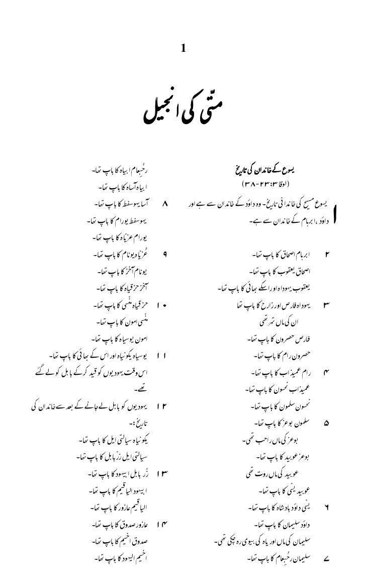 Urdu bible new testament