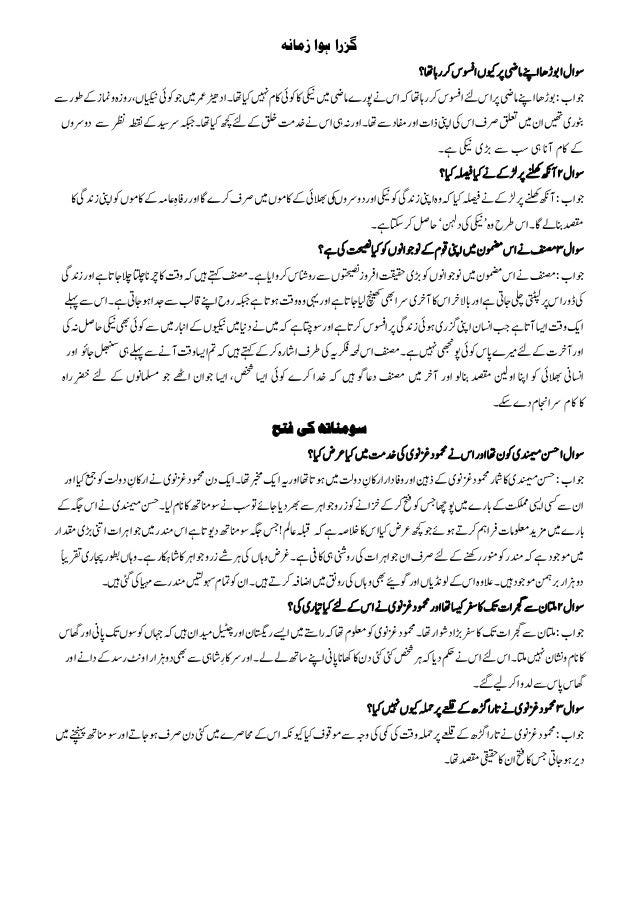 Urdu notes