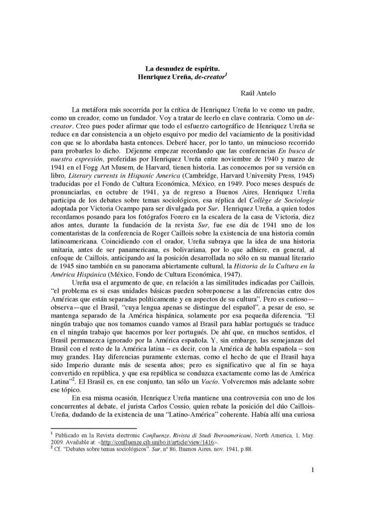 1 La desnudez de espíritu. Henriquez Ureña, de-creator